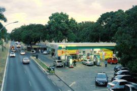 Posto de gasolina com diferenciais