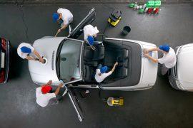 higienização do carro